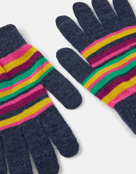 Stripe Super-Stretch Touchscreen Gloves, , large