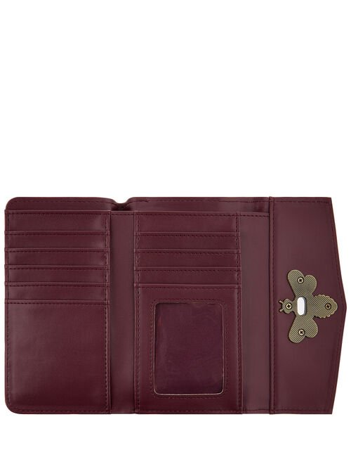 Britney Bee Wallet, Red (BURGUNDY), large