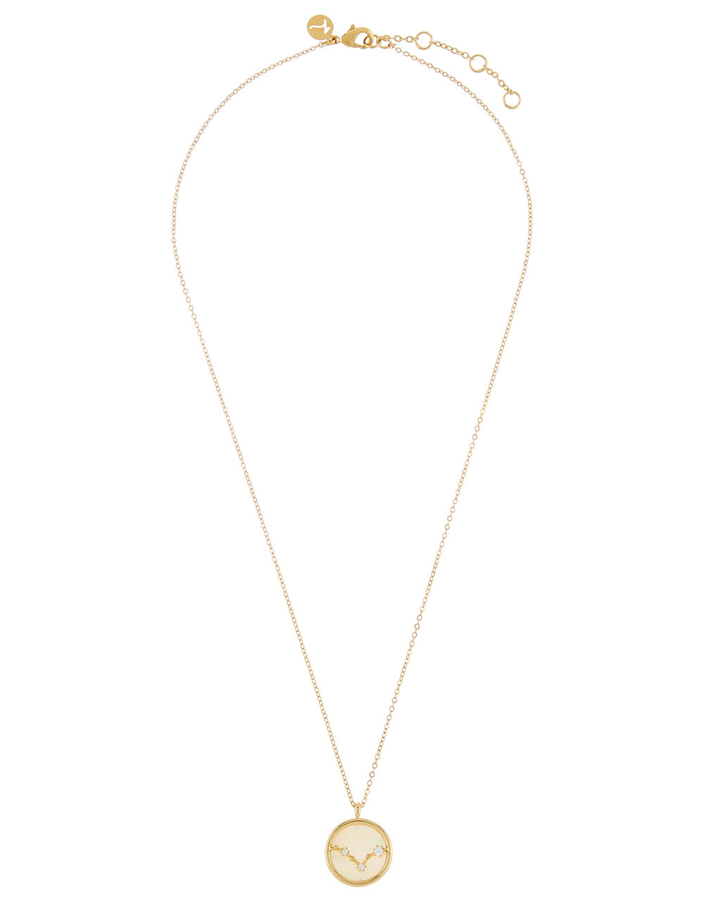 Gold-Plated Constellation Necklace - Pisces, , large