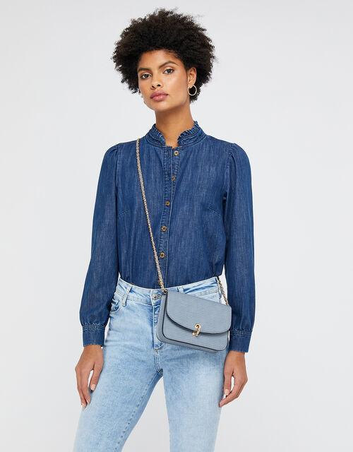 Edie Cross-Body Bag, Blue (BLUE), large