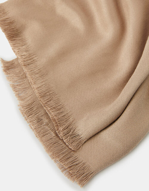 Plain Woven Stole, Natural (CHAMPAGNE), large