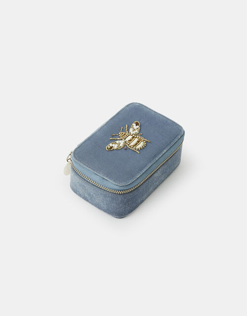 Bee Embroidered Jewellery Box, , large