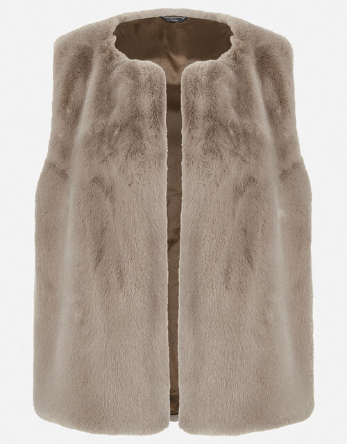 Luxe Faux Fur Gilet, , large