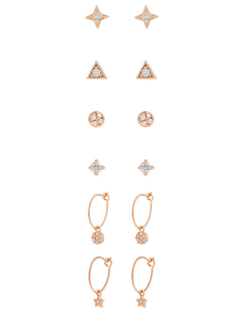 Rose Gold-Plated Sparkle Earring Multipack, , large