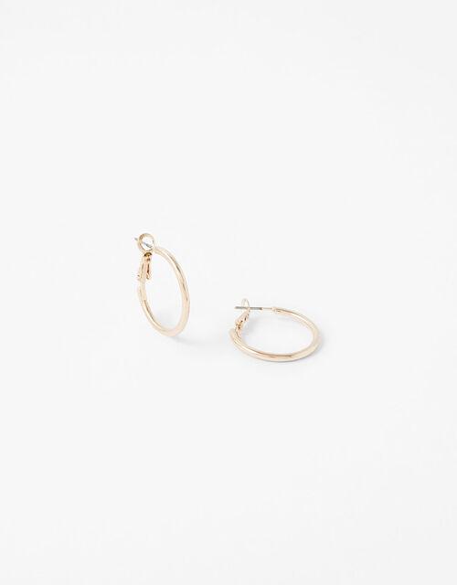 Small Simple Hoop Earrings, , large