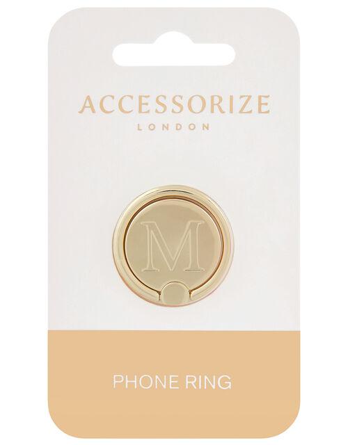 Metallic Initial Phone Ring - M, , large