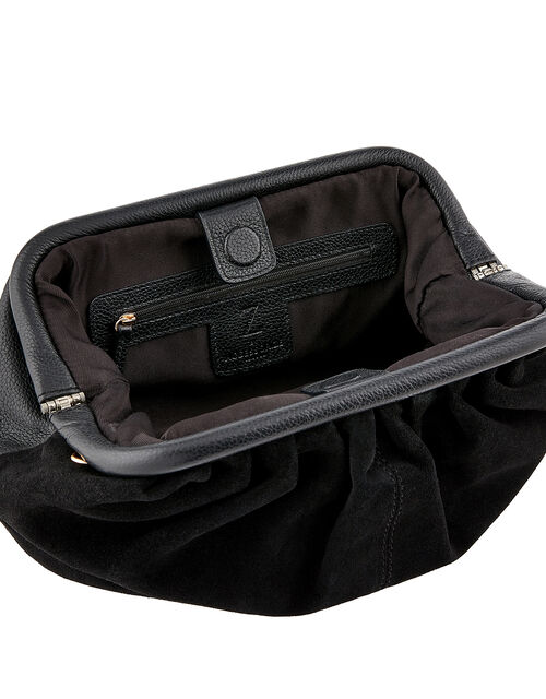 Stormy Leather and Suede Bag, , large