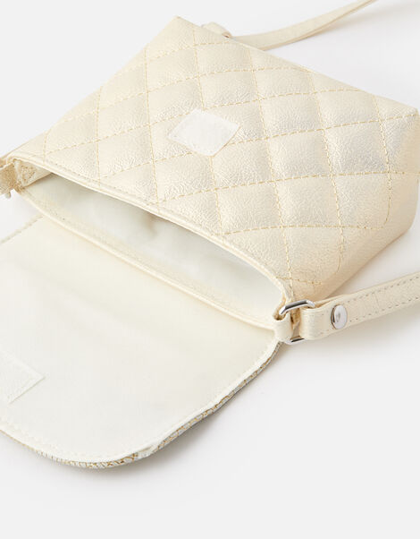 Quilted Cat Ear Cross-Body Bag , , large