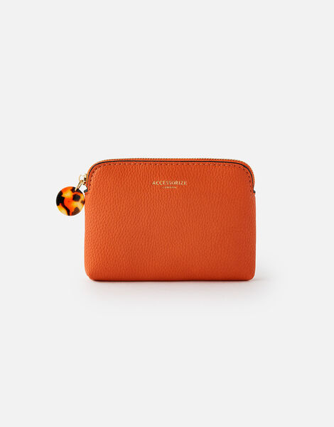 Reptile and Resin Coin Purse  Orange, Orange (ORANGE), large