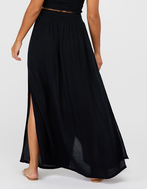 Charlotte Beach Maxi Skirt, Black (BLACK), large