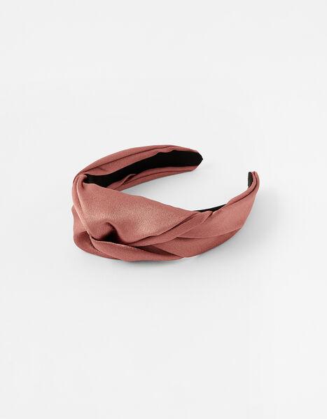 Twist Satin Headband, , large
