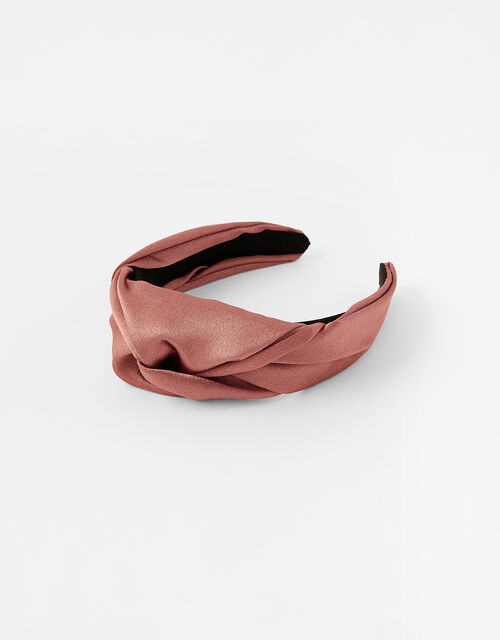 Twist Satin Headband, , large