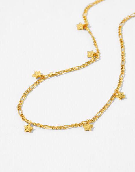 Gold Vermeil Star Station Necklace, , large