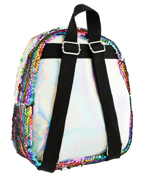 Rainbow Sequin Backpack, , large