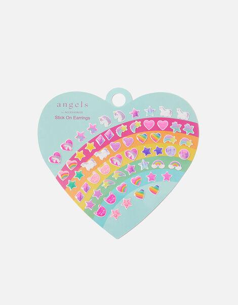 Heart Rainbow Stick-On Earrings , , large