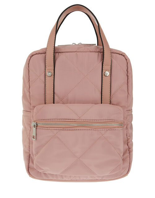 Mini Emmy Vegan Quilted Backpack, Nude (NUDE), large