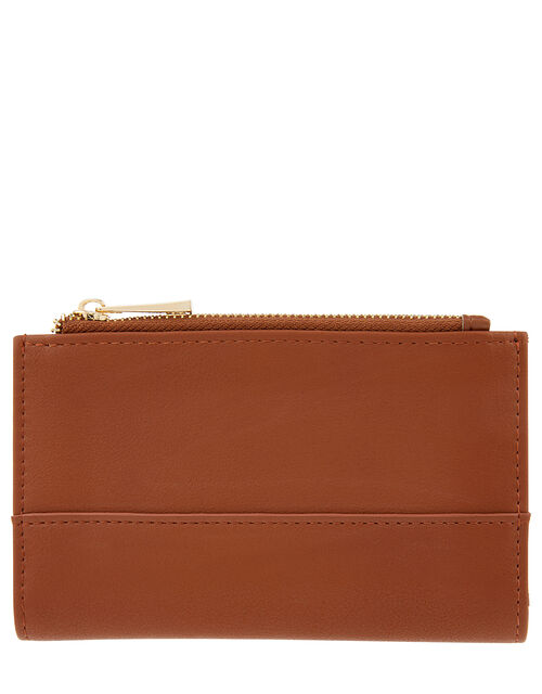 Katy Faux Leather Slim Wallet, Orange (RUST), large