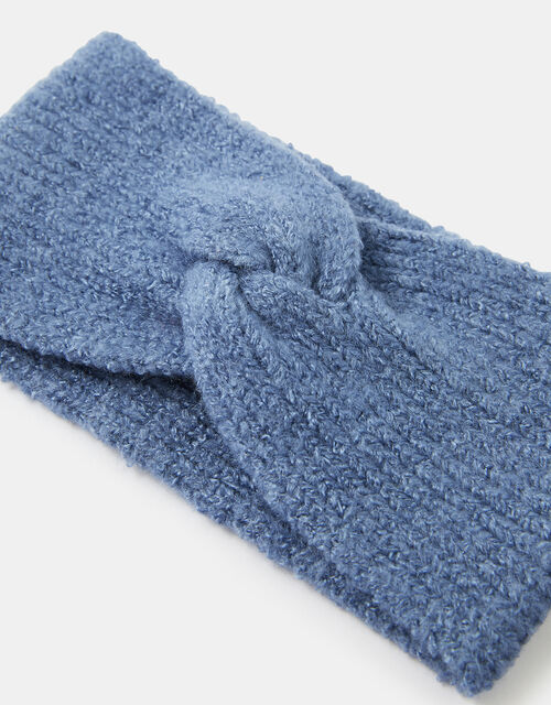 Knit Bando Headband, Blue (BLUE), large