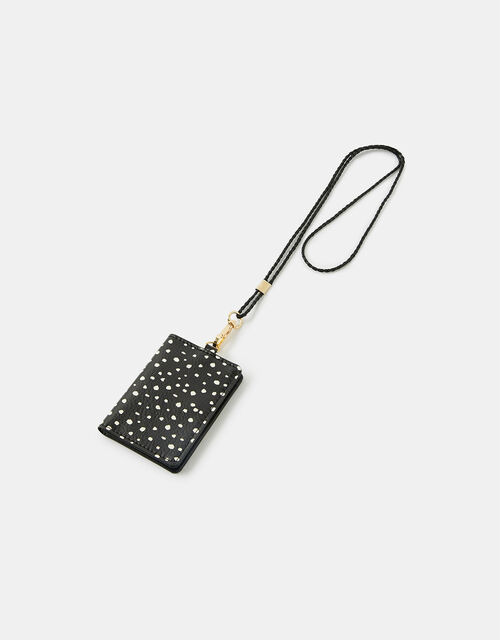 Spotty Lanyard Card Holder, , large