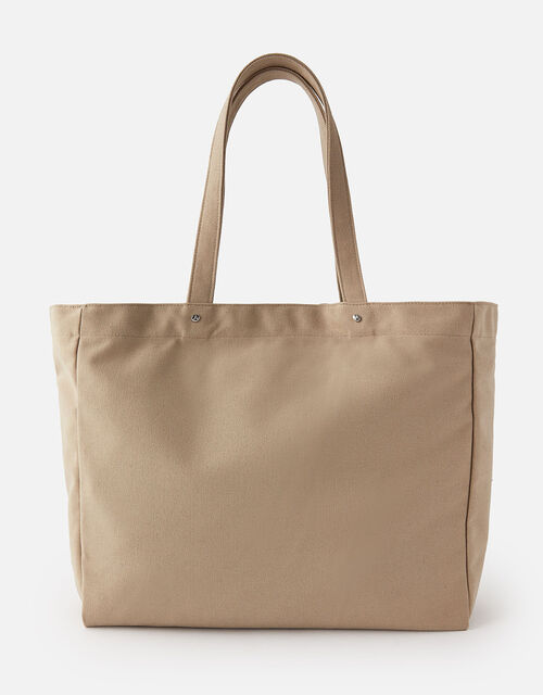 Canvas Shopper Bag , Green (KHAKI), large