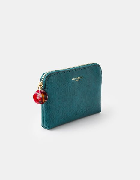 Resin and Reptile Coin Purse Teal, Teal (TEAL), large