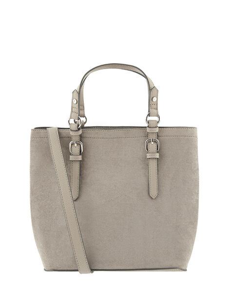 Betty Handheld Bucket Bag Grey, Grey (GREY), large
