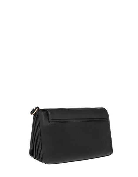 Pleated Cross-Body Bag Black, Black (BLACK), large