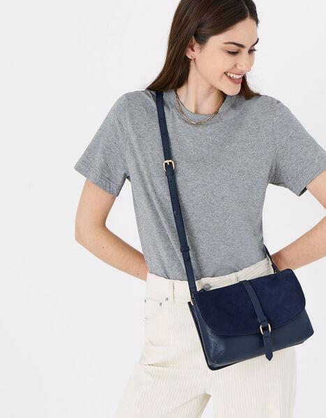 Farah Leather Flap Cross-Body Bag, , large