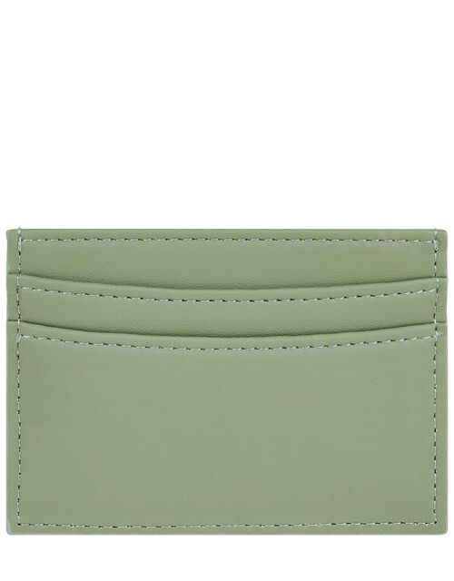 Embroidered Rainbow Cardholder, Green (GREEN), large