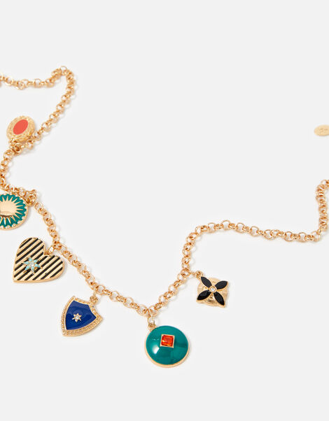Reconnected Enamel Charmy Necklace, , large