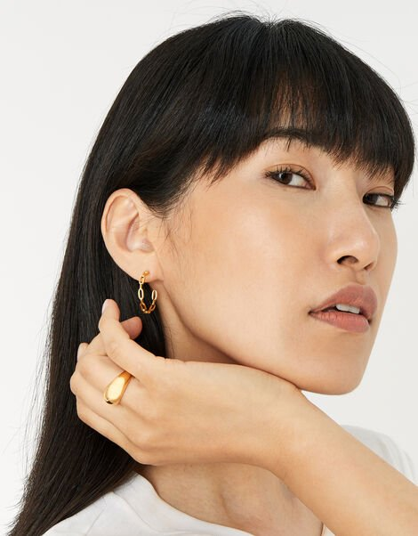 Gold-Plated Chunky Dome Ring Gold, Gold (GOLD), large