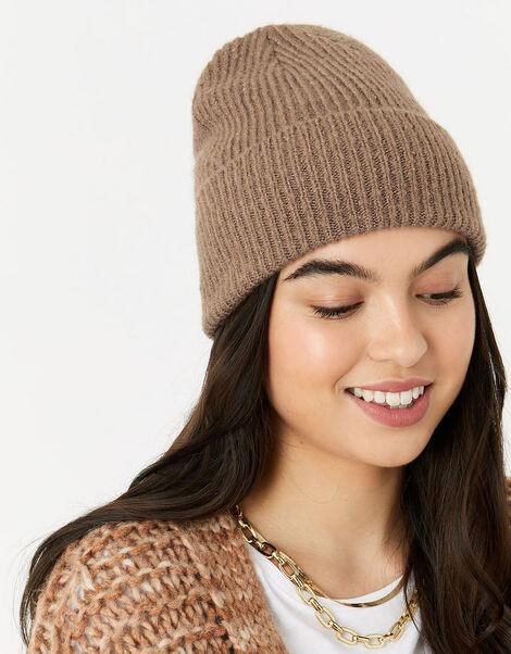 Soho Knit Beanie Hat Camel, Camel (CAMEL), large