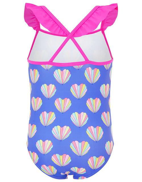 Shell Print Swimsuit, Blue (BLUE), large