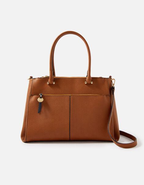 Mariah Work Tote Bag  Tan, Tan (TAN), large