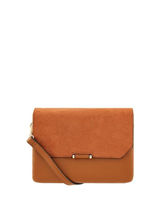 Callie Cross-Body Bag, Tan (TAN), large