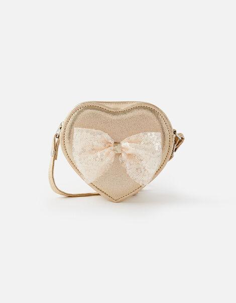 Sequin Bow Glitter Cross-Body Bag, , large