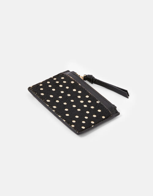 Shoreditch Spot Leather Card Holder, , large