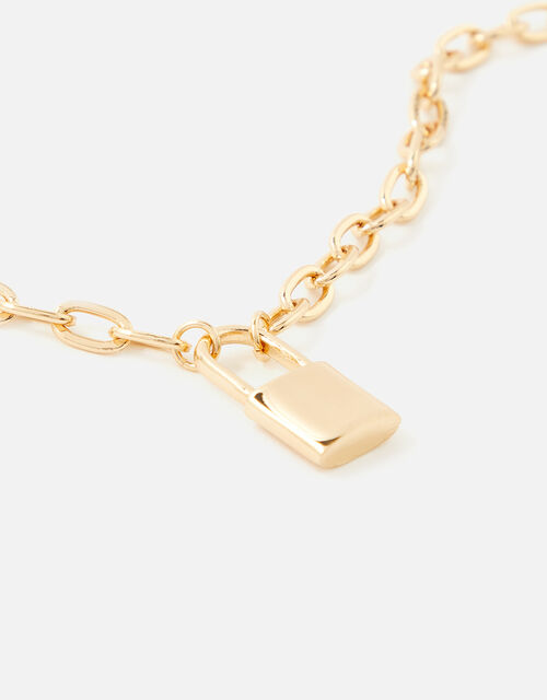 Padlock Chunky Chain with Recycled Metal, , large