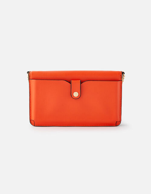 Pia Colourblock Chain Purse, Orange (ORANGE), large