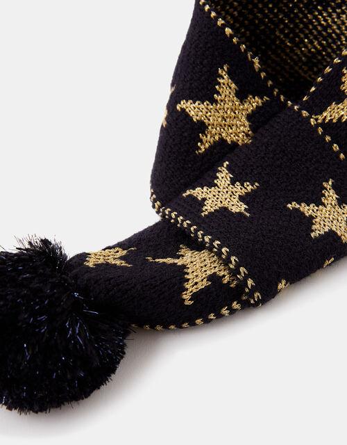 Starry Night Knit Dog Scarf, Blue (NAVY), large