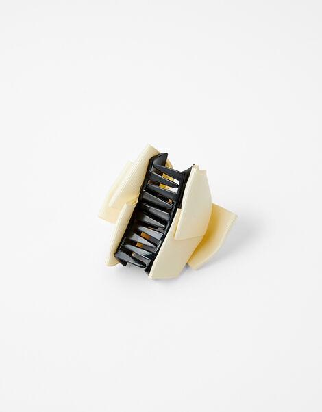 Pearly Bow Bulldog Clip Cream, Cream (CREAM), large