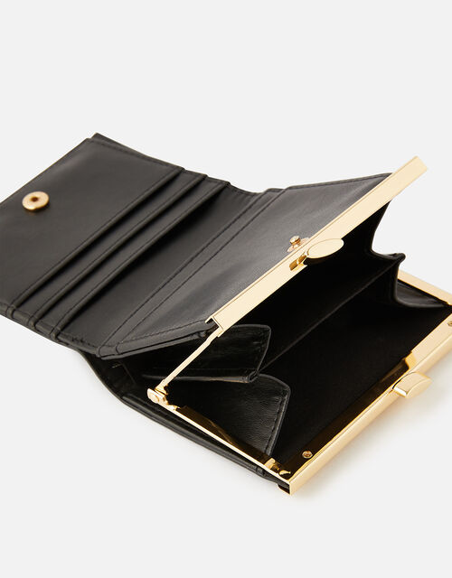 Bella Clip Frame Wallet , Black (BLACK), large
