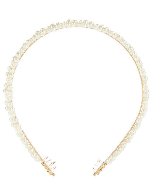 Pearl Crown Headband, , large