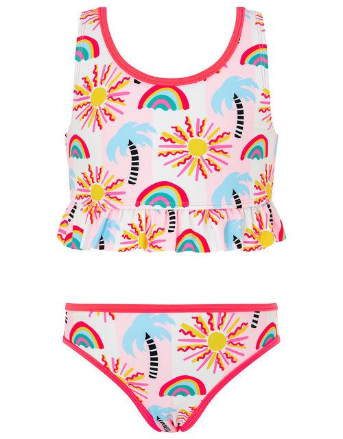 Summer Palm Tree Bikini Set, Multi (BRIGHTS-MULTI), large