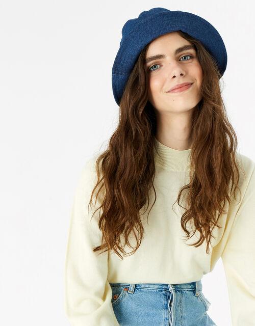 Denim Bucket Hat, , large