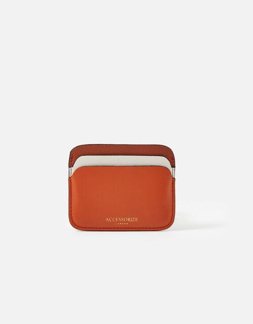Colourblock Cardholder, Orange (RUST), large