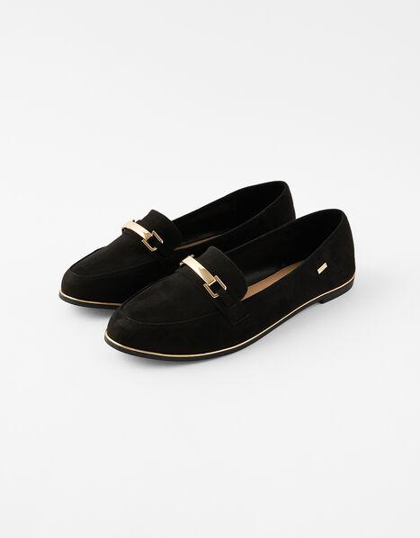Metal Bar Loafers Black, Black (BLACK), large