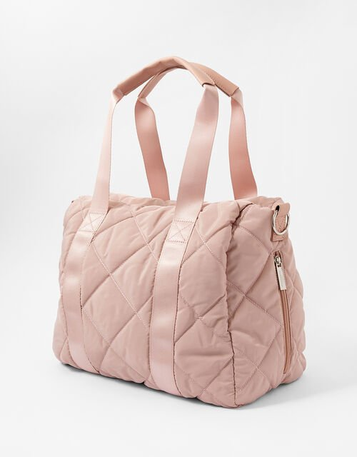 Becca Quilted Gym Bag, Pink (PINK), large