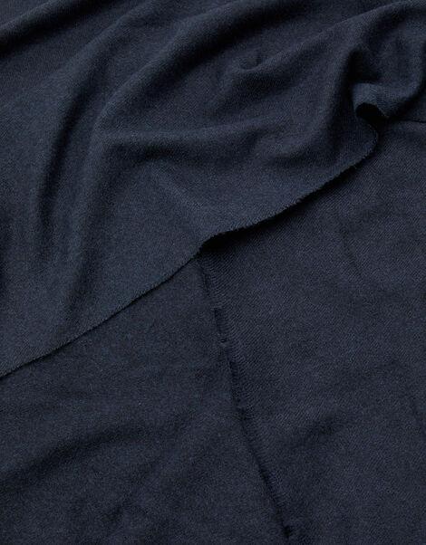 Wells Supersoft Blanket Scarf Navy, , large