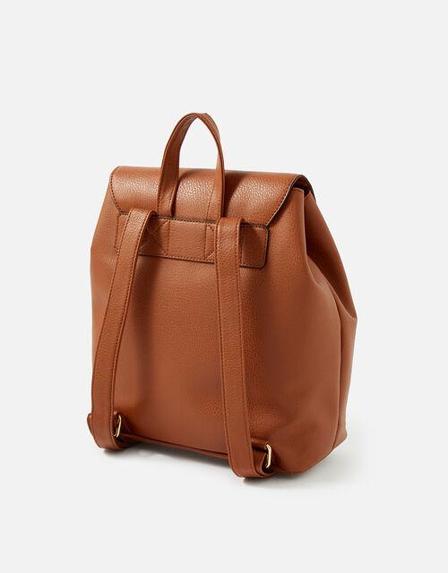 Kylie Drawstring Backpack, Tan (TAN), large